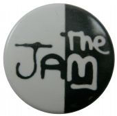 The Jam - 'Logo Black & White' Button Badge